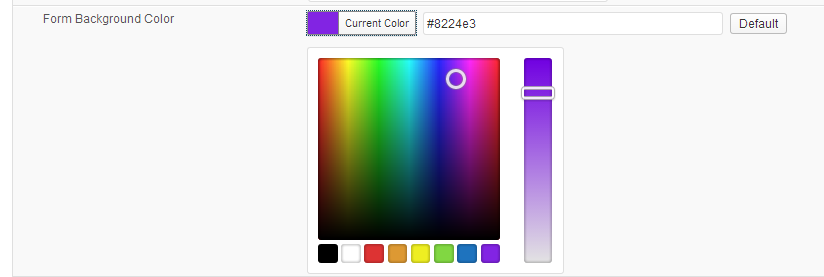 WordPress 3.5 New Color Picker