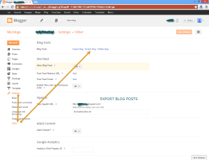Exoirt xml posts from blogger