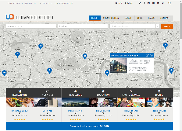 Online Directory Template. free responsive magazine directory ...