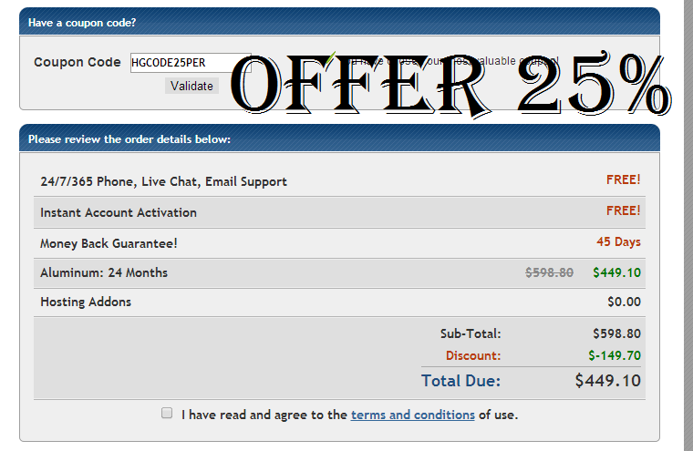 Hostgator 25% Offers